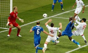 England and Italy in action at Euro 2012